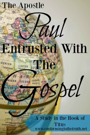 Do you believe the Scripture is our authority? By the authority of Scripture Paul was entrusted with the Gospel of Jesus Christ. Join Conforming To The Truth as we study through the book of Titus. This Bible study takes three weeks to complete.