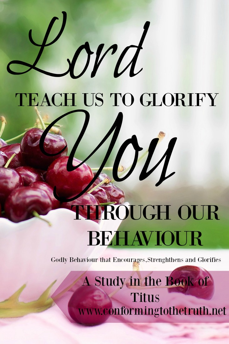 is our behavior bringing glory and honor to God? Does it strengthen and encourage our sisters in Christ? Join us as we do a Bible Study in the book of Titus and learn what behavior glorifies God.