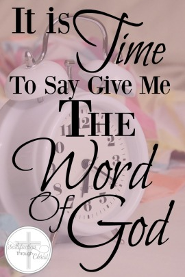 Do you feel like you are going in the wrong direction? Held captive to your own desires? It is time to ask for the Word of God