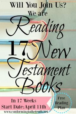 Bible Study: Is very important for the believer but reading through it in context is just as important. Join CTTTruth as we read 17 New Testament Books in 17 Weeks.