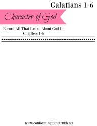 Galatians Character of God