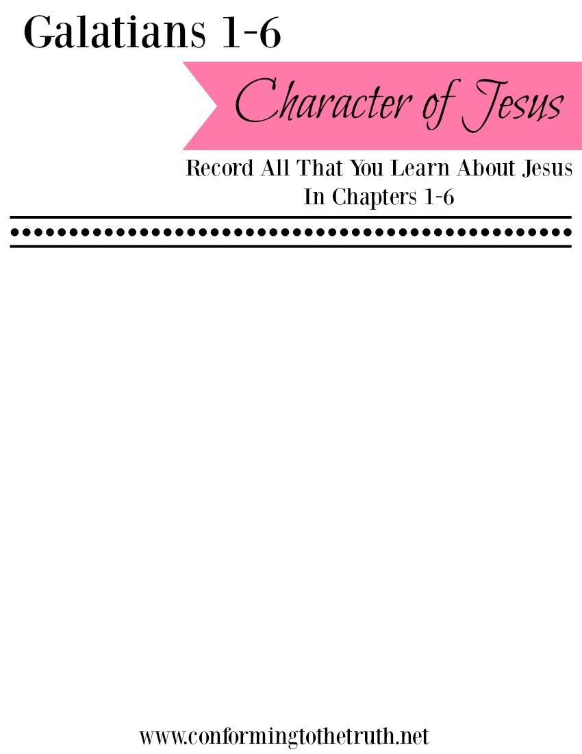 Galatians Character of Jesus