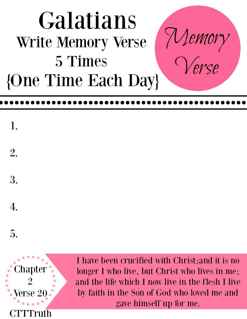 Galatians Memory Verse Week 1