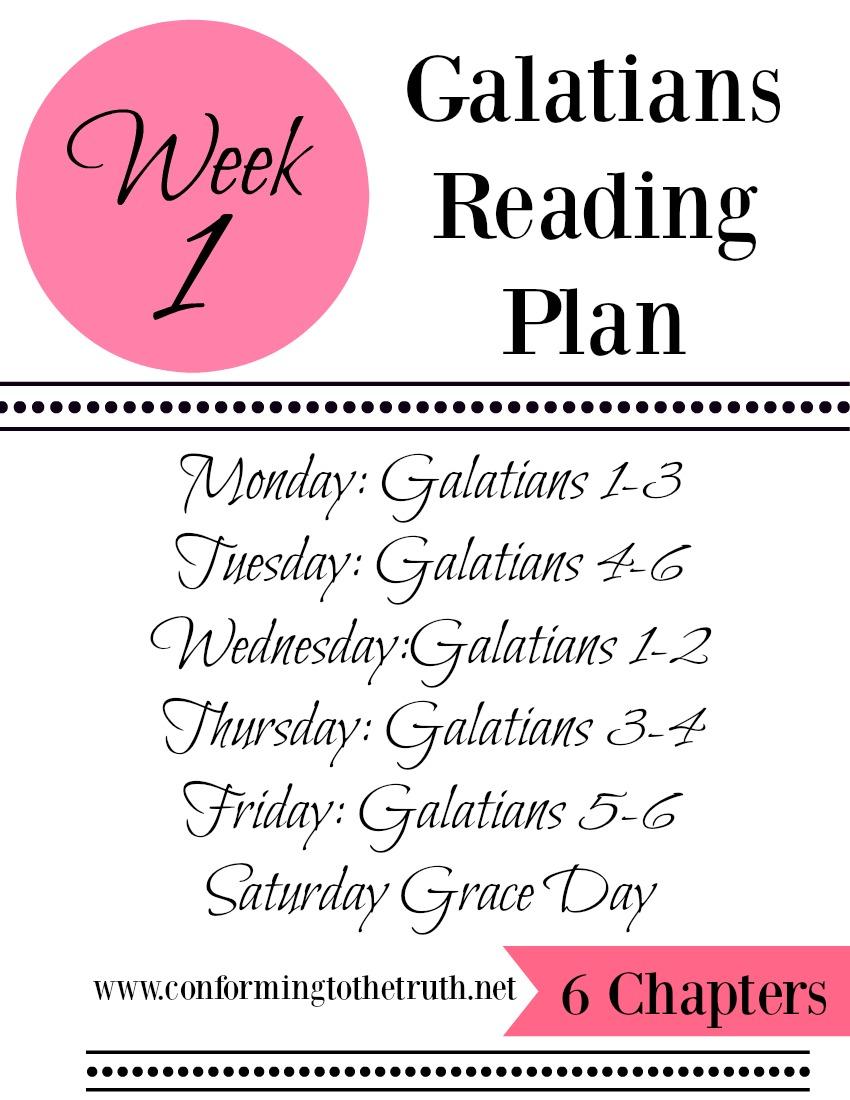 Week 1 Galatians Reading plan