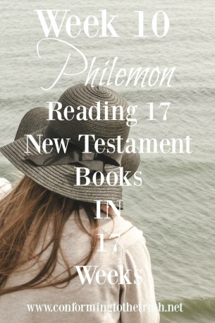 Have you read the book of Philemon lately? It is a small book with large Truth. Please join Lisa @conformingtothetruth as we read through this book learning about grace and forgiveness.