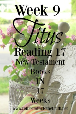 God has entrusted the gospel with the church. Our high calling is holy living. Join Conforming To The Truth as we read through the book of Titus. we would love for you to join us in reading Truth!
