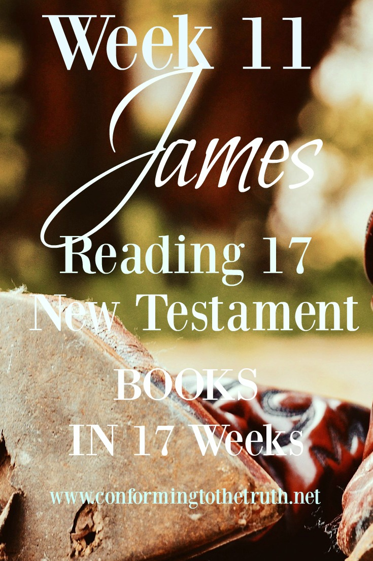 The book of James is filled with teachings on how to love our neighbor as ourselves and to love the Lord our God with all our hearts. Join me at conforming to the truth as we read and talk about this great book.
